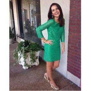 Lilly Pulitzer Camelia Dress in Fern Green 2